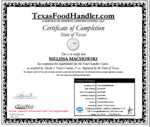 TexasFoodHandlerCert