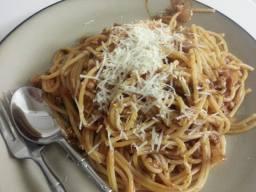 Easy Dinner: Pasta with Sausage Marinara