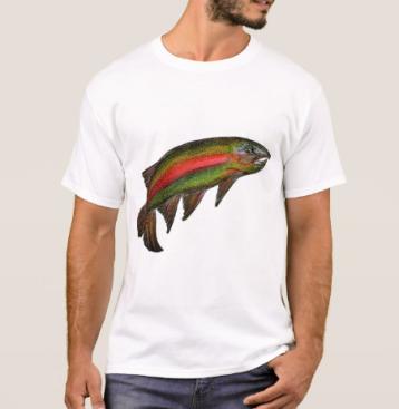 MensRainbowTroutTshirt
