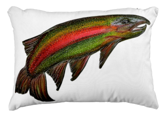 RainbowTroutOutdoorPillow