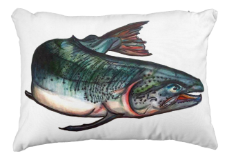 SalmonOutdoorPillow